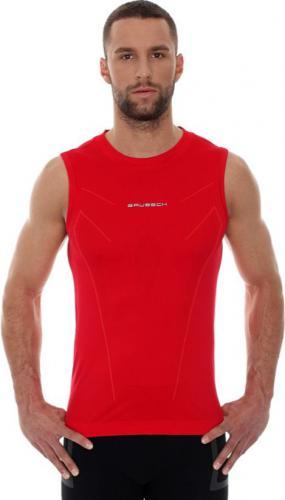 Brubeck Koszulka męska ATHLETIC bez rękawów ciemnoczerwony r. XL (SL10190)