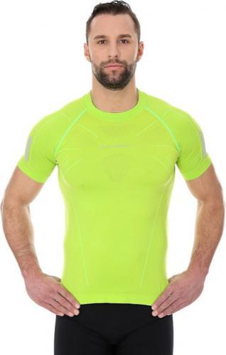 Brubeck Koszulka męska ATHLETIC z krótkim rękawem neonowy zielony r. M (SS11090)