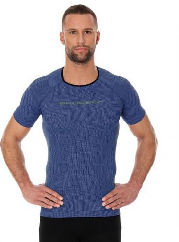 Brubeck Koszulka męska 3D Run PRO z krótkim rękawem ciemnoniebieski r. M (SS11920)