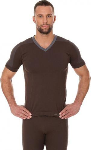 Brubeck Koszulka męska krótki rękaw COMFORT NIGHT brązowa r. M (SS11800)
