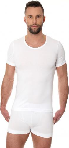 Brubeck Koszulka męska z krótkim rękawem Comfort Cotton biała r. S (SS00990A)