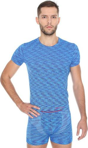 Brubeck Koszulka męska z krótkim rękawem FUSION niebieska r. S (SS11550)