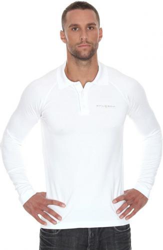 Brubeck Koszulka męska Prestige biała r. M (LS10620)