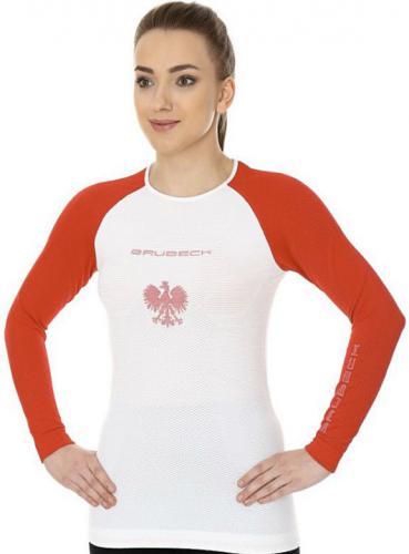 Brubeck Koszulka damska 3D Husar PRO biało-czerwona r.S  (LS13200)