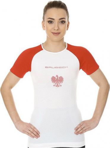 Brubeck Koszulka damska 3D Husar PRO z krótkim rękawem biało-czerwona r.S (SS12110)