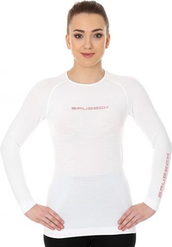 Brubeck Koszulka damska 3D Run PRO z długim rękawem biała r. XL (LS13140)