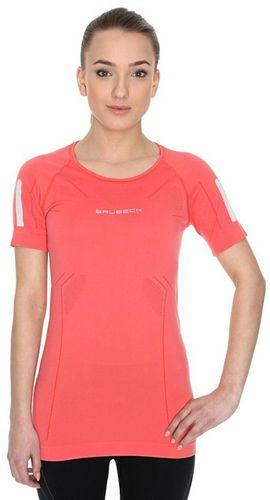 Brubeck Koszulka damska z krótkim rękawem Athletic pomarańczowa r. XL (SS11080)