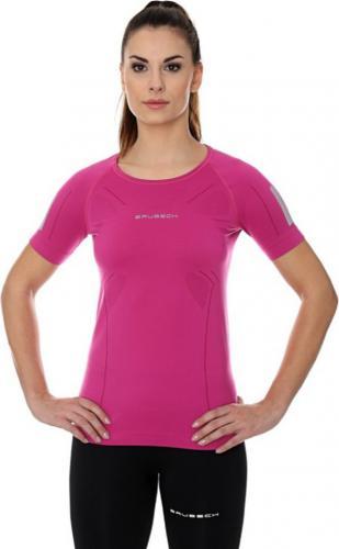 Brubeck Koszulka damska z krótkim rękawem Athletic różowy r. L (SS11080)