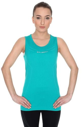 Brubeck Koszulka damska ATHLETIC bez rękawów r.XL turkusowa (TA10200)