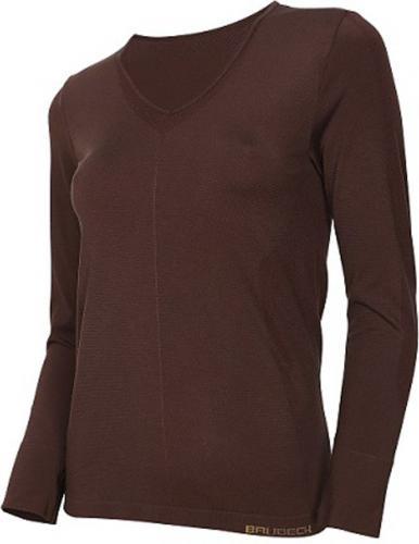 Brubeck Koszulka damska z długim rękawem Comfort Night brązowa r. L (LS12910)
