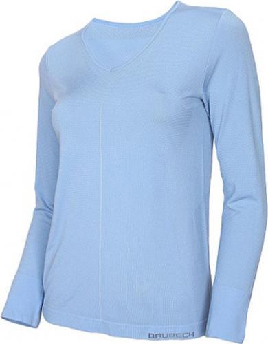 Brubeck Koszulka damska z długim rękawem Comfort Night niebieska r. S (LS12910)