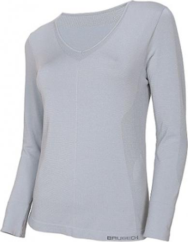 Brubeck Koszulka damska z długim rękawem COMFORT NIGHT r.S szara (LS12910)