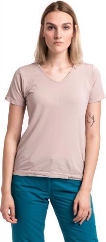 Brubeck Koszulka damska z krótkim rękawem Comfort Night beżowa r. S (SS11790)