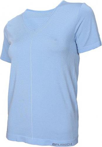 Brubeck Koszulka damska z krótkim rękawem Comfort Night niebieska r. L (SS11790)