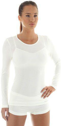 Brubeck Koszulka damska z długim rękawem Comfort Wool biała r.M (LS11610)