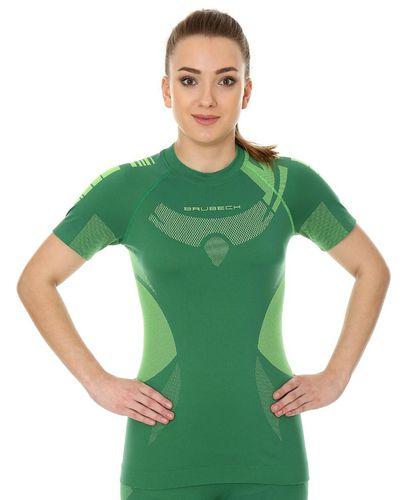 Brubeck Koszulka damska DRY z krótkim rękawem zielona r.XL (SS11960)