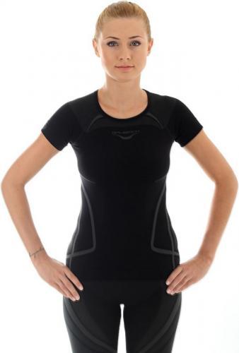 Brubeck Koszulka damska z krótkim rękawem Swift czarna r. S (SS10820)