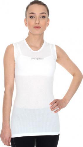 Brubeck Koszulka damska typu base layer z krótkim rękawem biała r. S (SS10540)