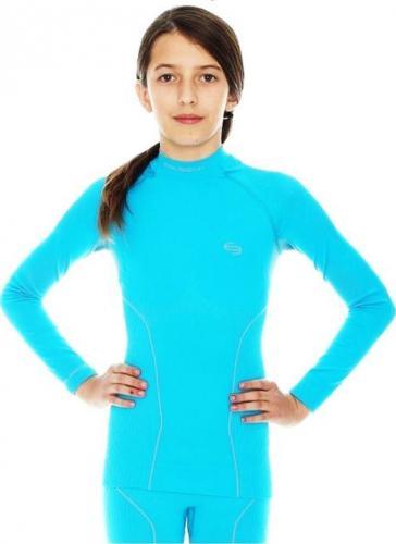 Brubeck Koszulka dziecięca Thermo niebieska r. 140/146 (LS11510)