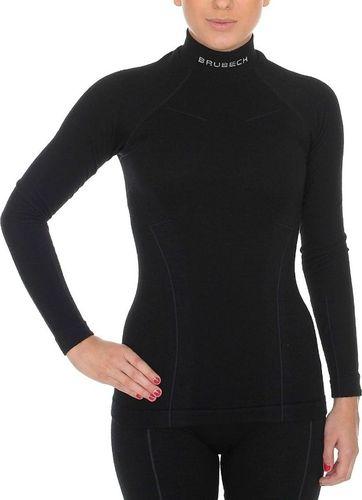 Brubeck Bluza damska Extreme Wool czarna r. L (LS1193 )