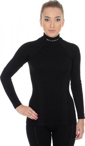 Brubeck Bluza damska WOOL r.S czarna (LS11930)
