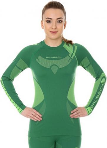 Brubeck Bluza damska DRY z długim rękawem zielona r. M (LS13070)