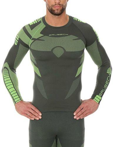 0c8b90624e4878 Brubeck Bluza męska Dry z długim rękawem zielona r. L (LS13080) w ...