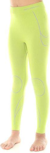 Brubeck Spodnie dzieciece Thermo  limonkowe r. 116-122 (LE10780)