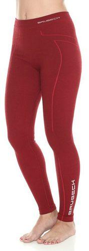 Brubeck Spodnie damskie Wool burgundowe r. S (LE11130)