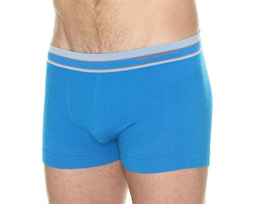 Brubeck Bokserki męskie Active Wool niebieskie r. S (BX10870)