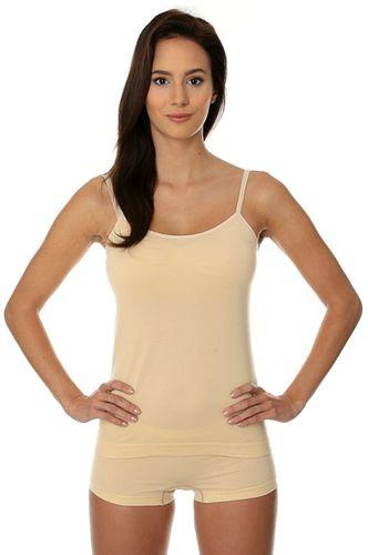 Brubeck Koszulka damska Camisole COMFORT COTTON beżowa r. L (CM00210A)
