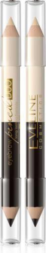 Eveline Eyebrow Pencil Duo Kredka Do Brwi I Rozświetlacz Pod Łuk Brwiowy 02