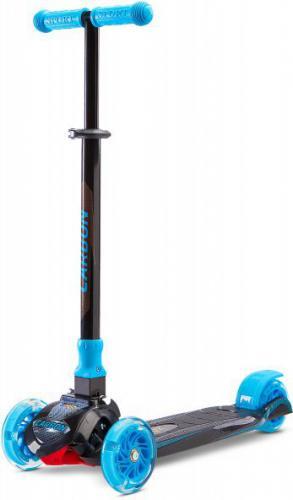 Caretero CARBON BLUE Hulajnoga 3-kołowa, kolor czarno-niebieski