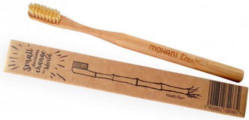 Mohani Bambusowa szczoteczka do zębów - naturalna, włosie średnie