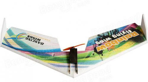 DWhobby Rainbow Flying Wing V2 EPP Kit + Motor + ESC + Servo (DW/DPRF03034)