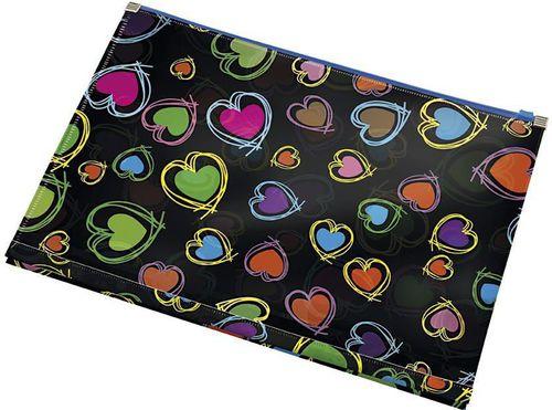 Panta Plast Koperta z nadrukiem zip A4 PP Hearts - 197911