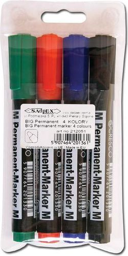 Cresco Marker Permanentny M 4 kolory - 248183