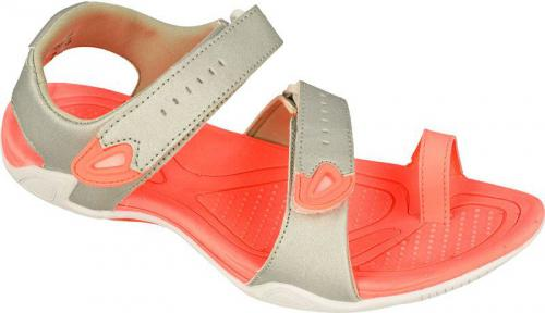 4f Sandały damskie SAD002 srebrno-pomarańczowe r. 36 (H4L17-SAD002)