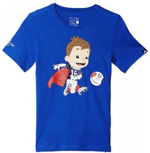 Adidas Koszulka dziecięca EURO MASCOT JR niebieska r. 140 cm (AI5668) do porównania ID produktu: 1506424