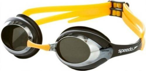 Speedo Okularki do pływania MERIT MIRROR czarno-żółte (40226)