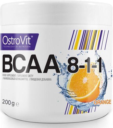 OstroVit Aminokwasy BCAA 8-1-1 200g pomarańcza Ostrovit pomarańczowy roz. uniw