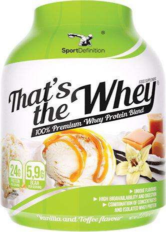 SportDefinition Thats the Whey Vanilla Toffee 2,27 kg