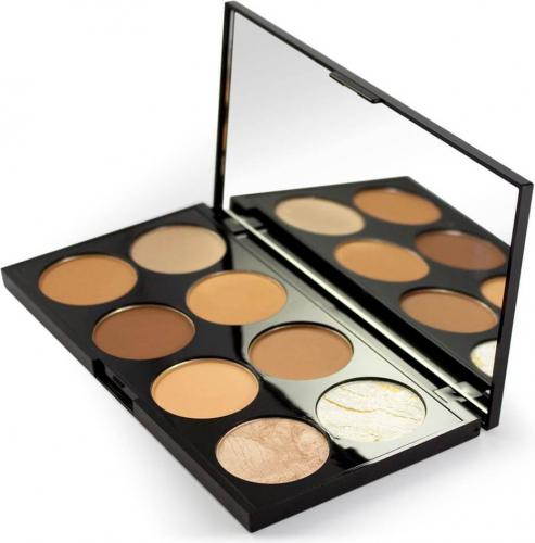 Makeup Revolution paleta do konturowania i rozświetlania Ultra Contour Medium-Dark