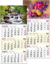 SAPT Kalendarz 2018 trójdzielny jednoplanszowy (SB7)