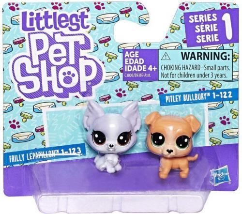 Hasbro Littlest Pet Shop. Dwupak. Pitbull i Papillion  (GXP-603619)