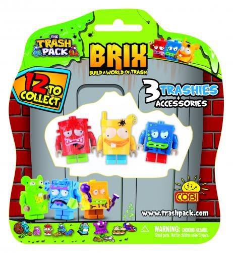 Cobi Trash Pack 3 Figurki z akcesoriami (COBI-6247)