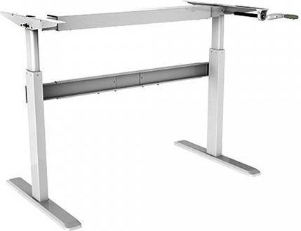 Biurko Maclean Biurko ręczna regulacja max 60 kg max wys 120cm - bez blatu do pracy stojąco siedzącej (MC-726)