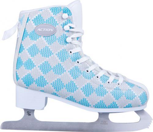 WORKER Damskie łyżwy zimowe Action Blau niebieskie Rozmiar 39 (10950)