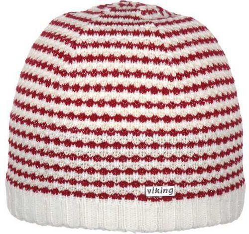 Viking Czapka damska biało-czerwona (210/12/4016)