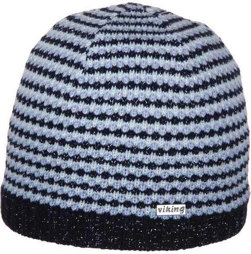 Viking Czapka damska czarno-niebieska (210/12/4016)